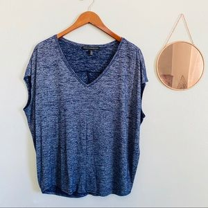 WHBM V NECK Boxy Space Dyed Tee M